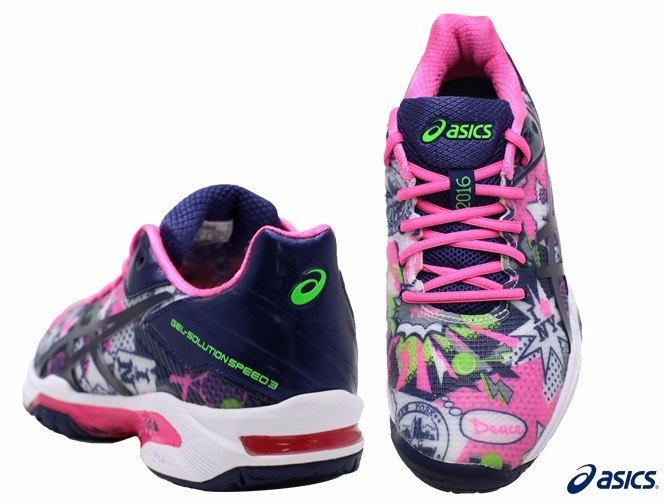7ec108e45fc Tênis Asics Gel Solution Speed 3 Nyc Us Open Limited Edition - R ...