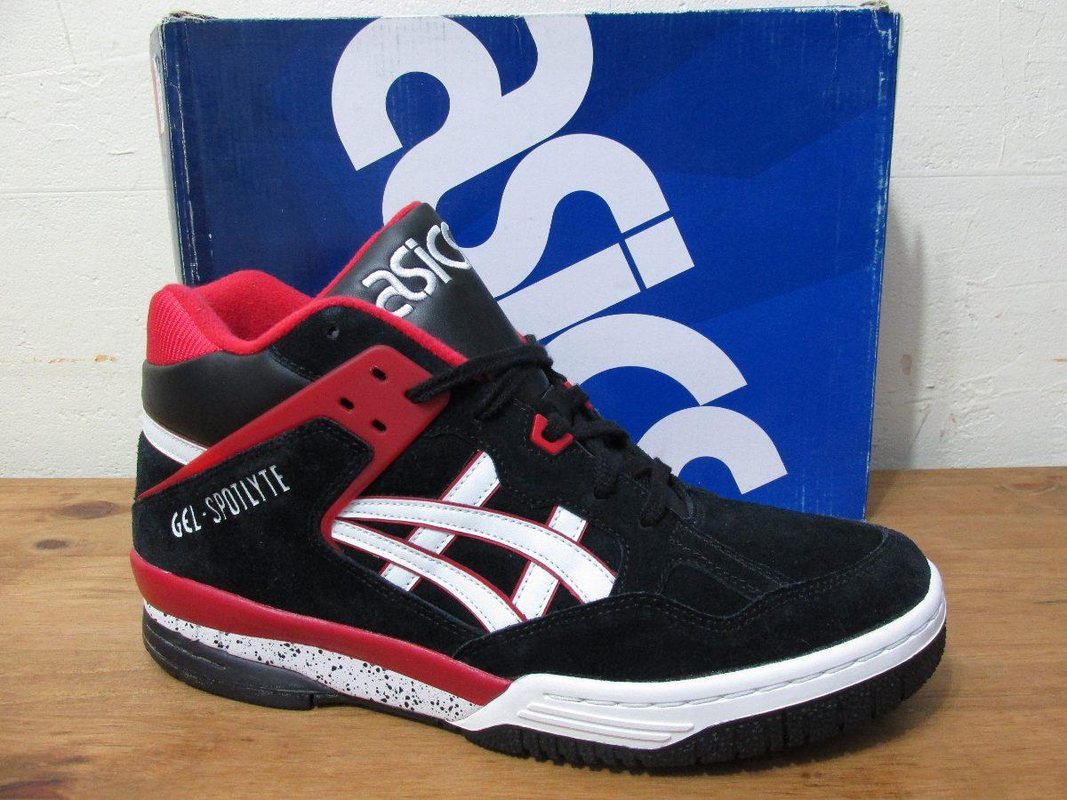 Tênis Asics Gel Spotlyte Preto Vermelho Sneaker Original - R  269 33cc2e3b37c3a