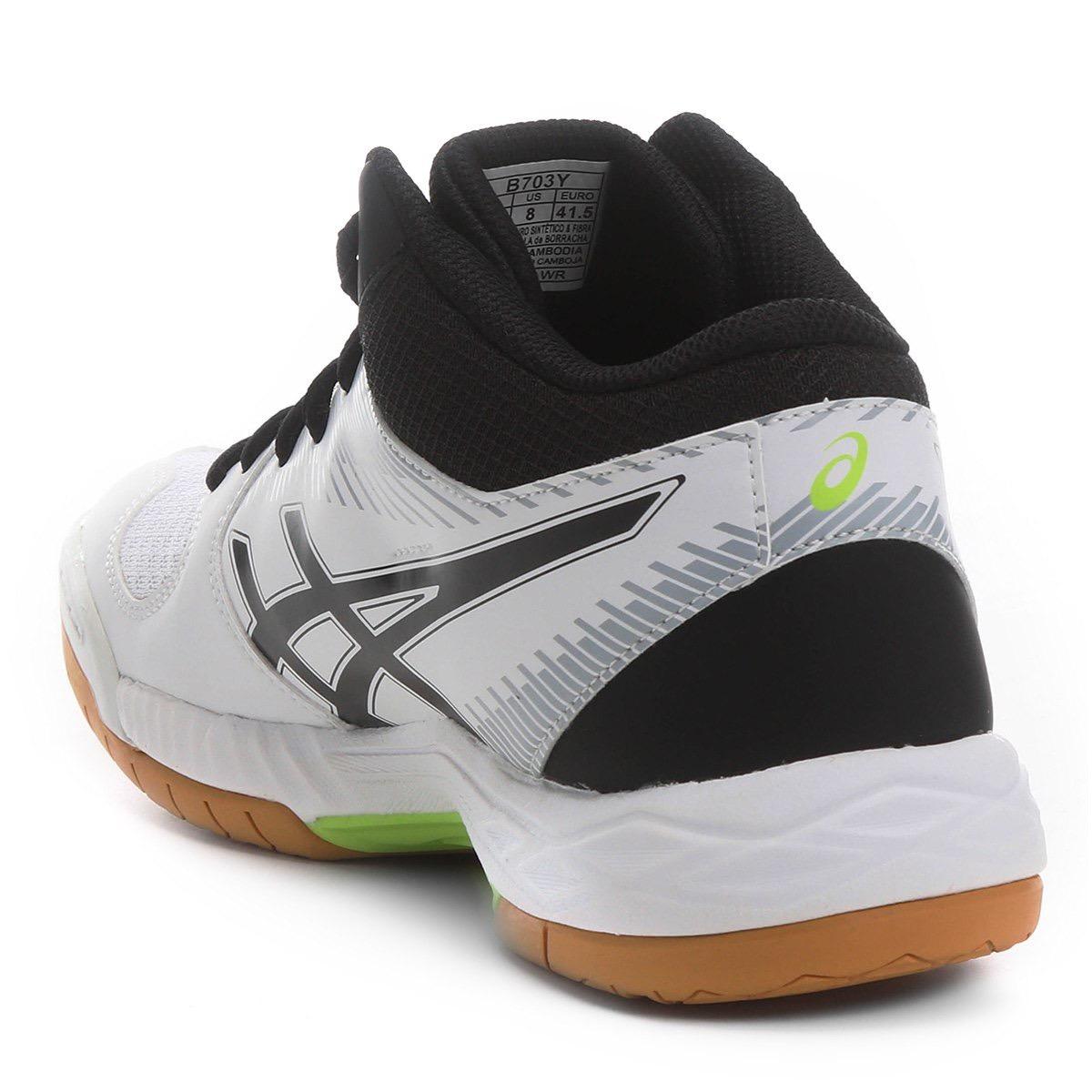 903df4fdcc tênis asics gel task mt preto e branco volei handebol futsal. Carregando  zoom.