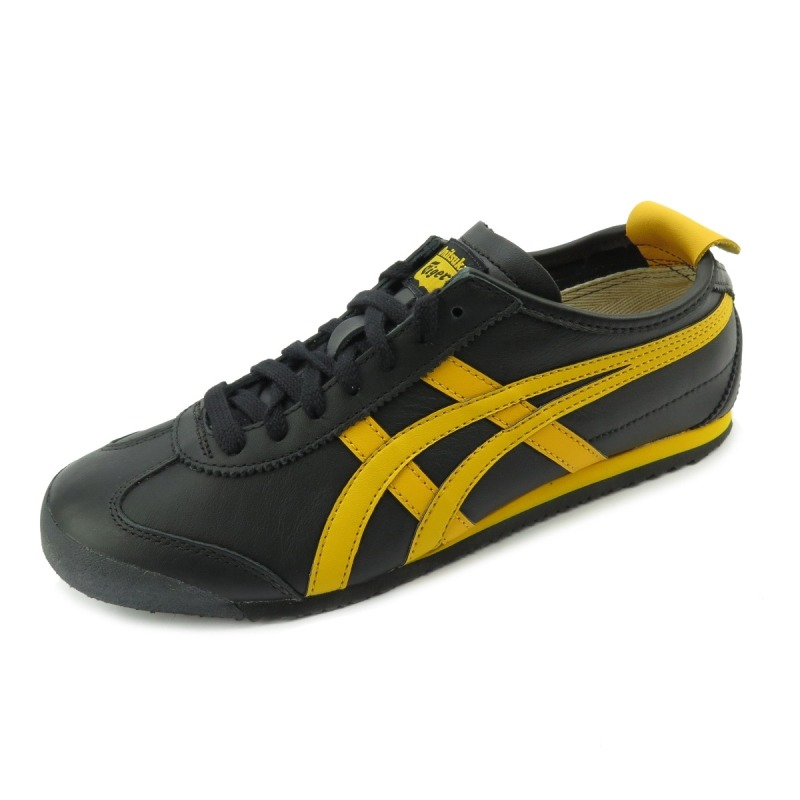the best attitude 66a1c f2268 Tênis Asics Onitsuka Tiger Mexico 66 Black/gold