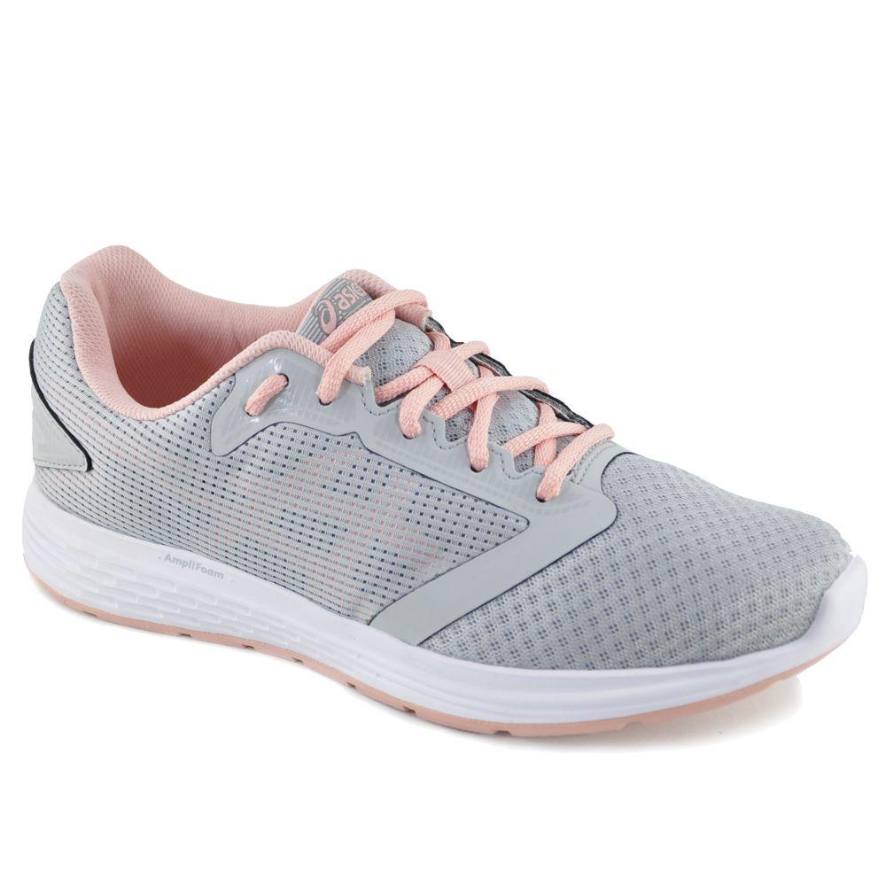 3b7e6dc1ea1 tênis asics patriot 10 a feminino - cinza e rosa. Carregando zoom.
