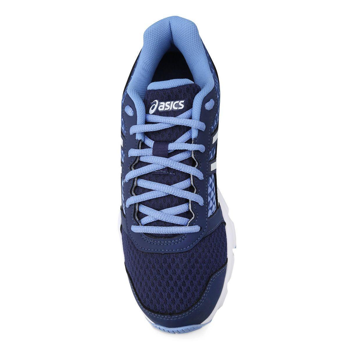 cc1e633fa6 tênis asics patriot 8 feminino azul e branco. Carregando zoom.