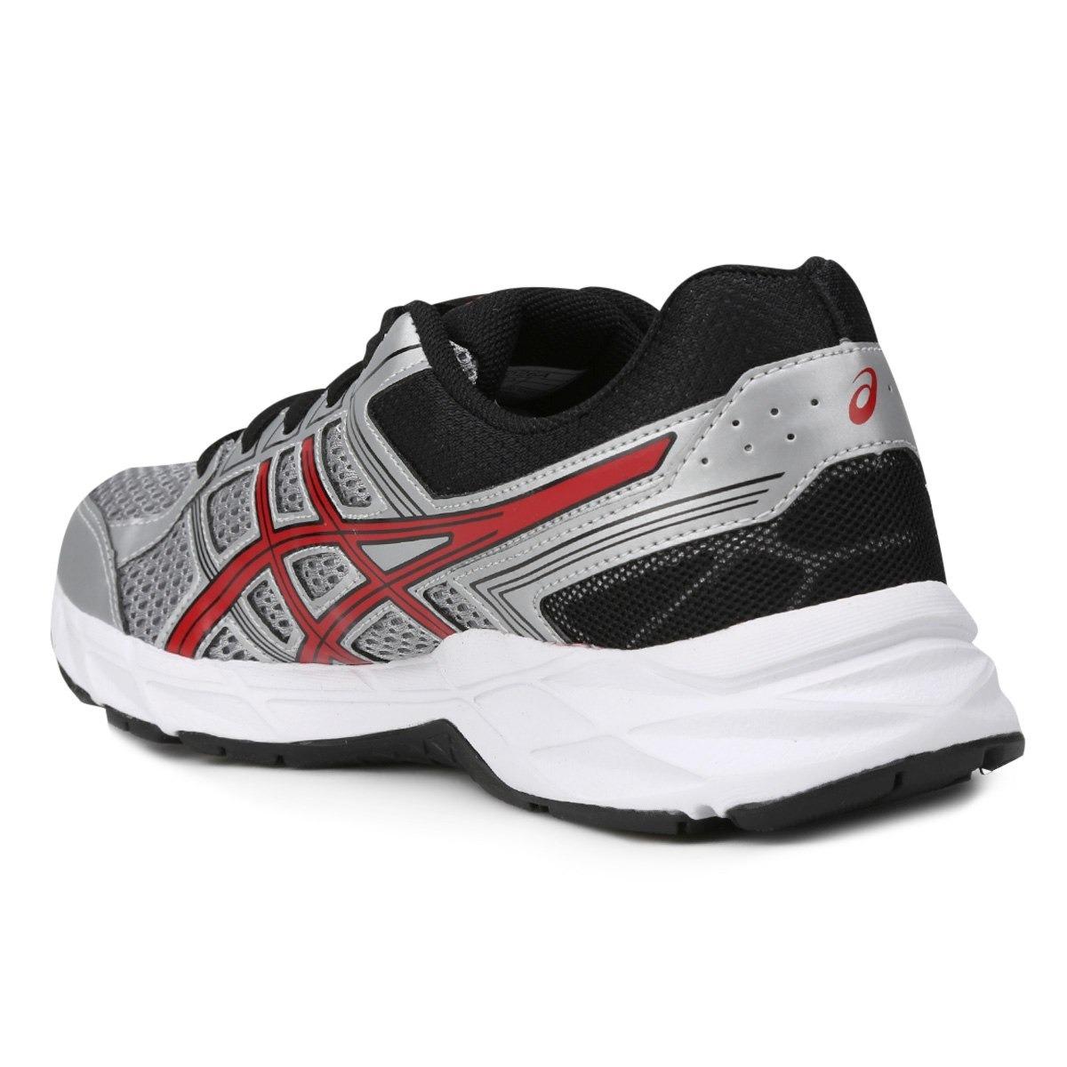 c1a65a21bc tênis asics prata e vermelho gel contend 4 a masculino. Carregando zoom.