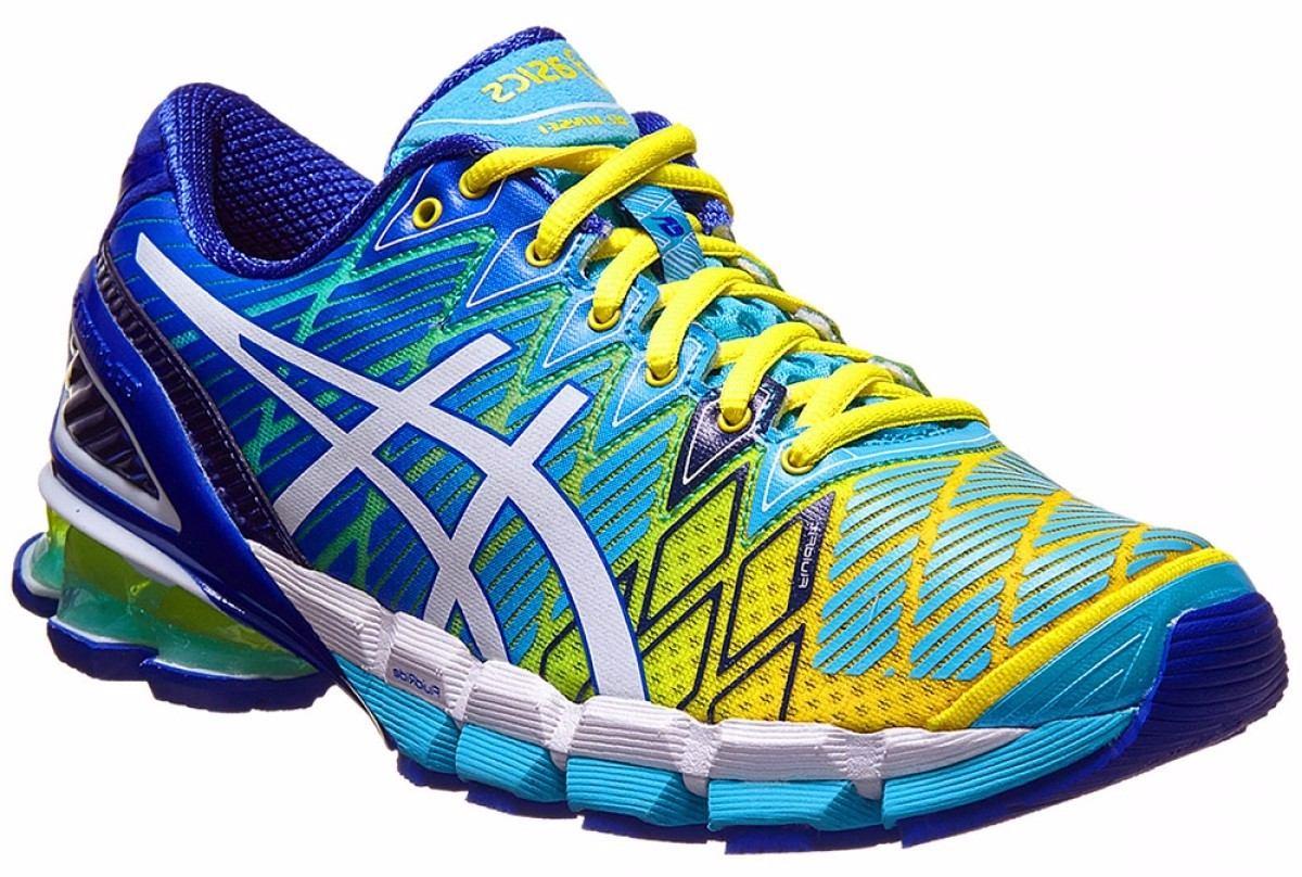 tênis asics kinsei 5 gel running masculino amarelo azul esc · tênis asics  running masculino. Carregando zoom. b7586f4148428