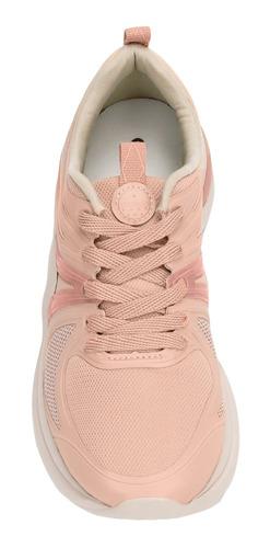 tênis azaleia chunky sneaker sem costura ugly shoes blush