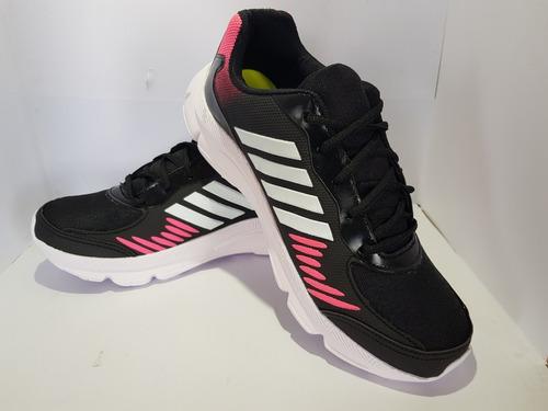 tênis azzun preto/pink ref az31