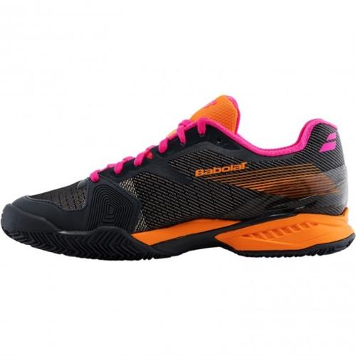 tênis babolat jet clay w - cinza/laranja/pink