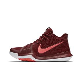 59d001bed69 Tênis Basquete Nike Kyrie 3 Vinho Vermelho Nba Irving