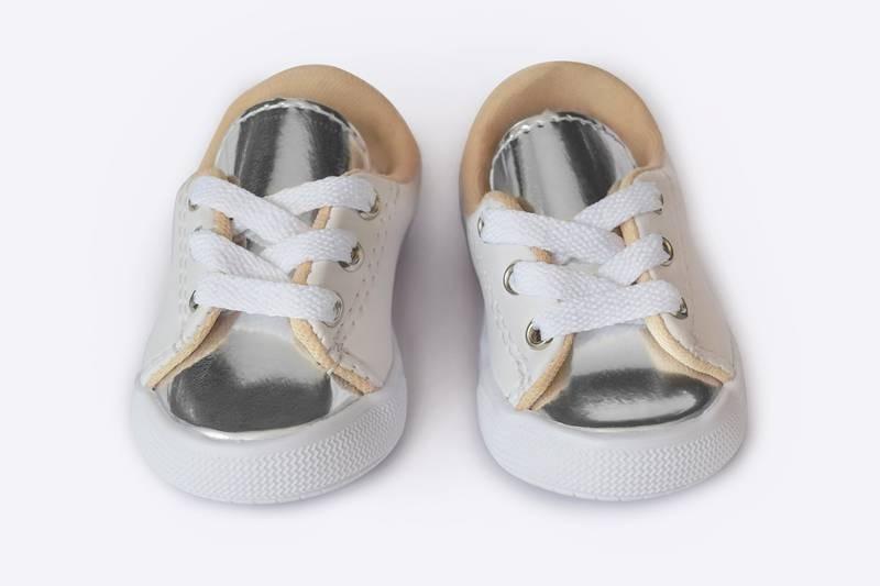 03d28d7eae Tênis Bebê Feminino Branco prata - Baby Love Calçados - R  29