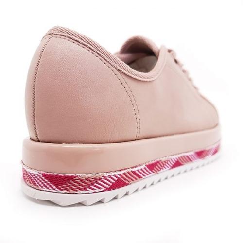 tênis beira rio casual flatform tratorado rosa