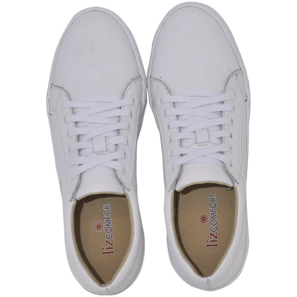 1a3acc7ad tênis branco feminino em couro legítimo liz confort driggo´s. Carregando  zoom.