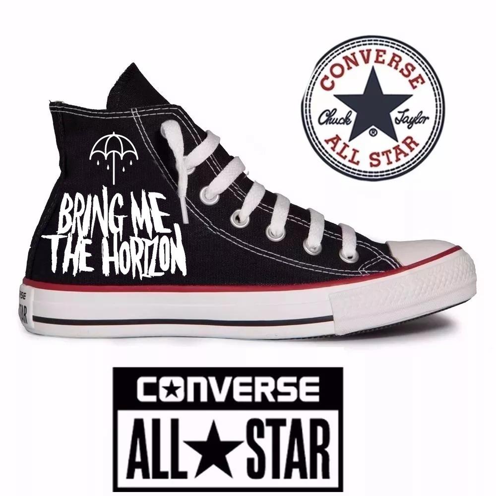 624c4dcff478 tênis bring me the horizon - all star converse customizado. Carregando zoom.