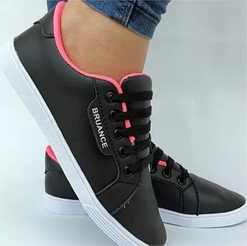 tênis bruance preto com rosa