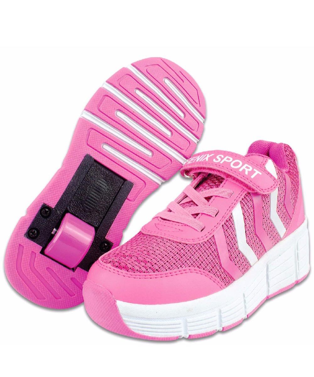 22b45e277b1 Tênis C  Rodinha Patins Meninas Rosa Tamanho 31 Fitness - R  75