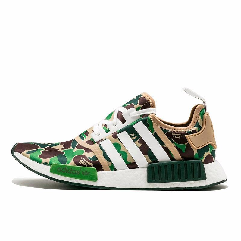 45e2c7aaabaae tênis camuflado adidas nmd r1 bape (verde escuro). Carregando zoom.