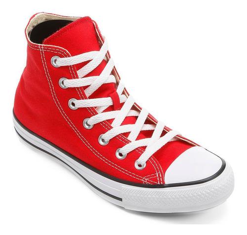 tênis cano alto converse all star ct as hi - vermelho