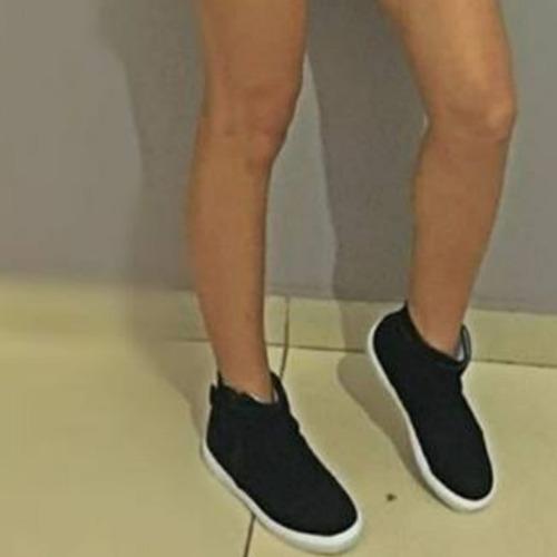 tênis cano alto feminino