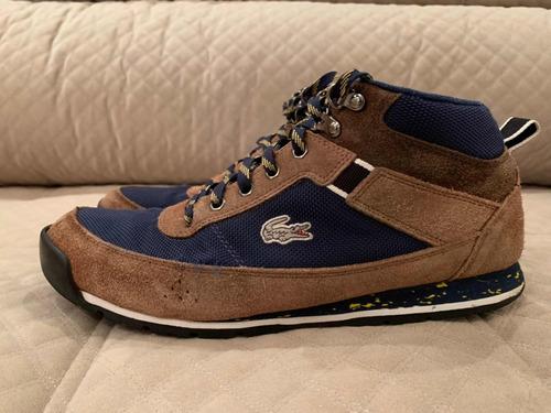 tênis cano médio lacoste - masculino - tamanho 9.5 us