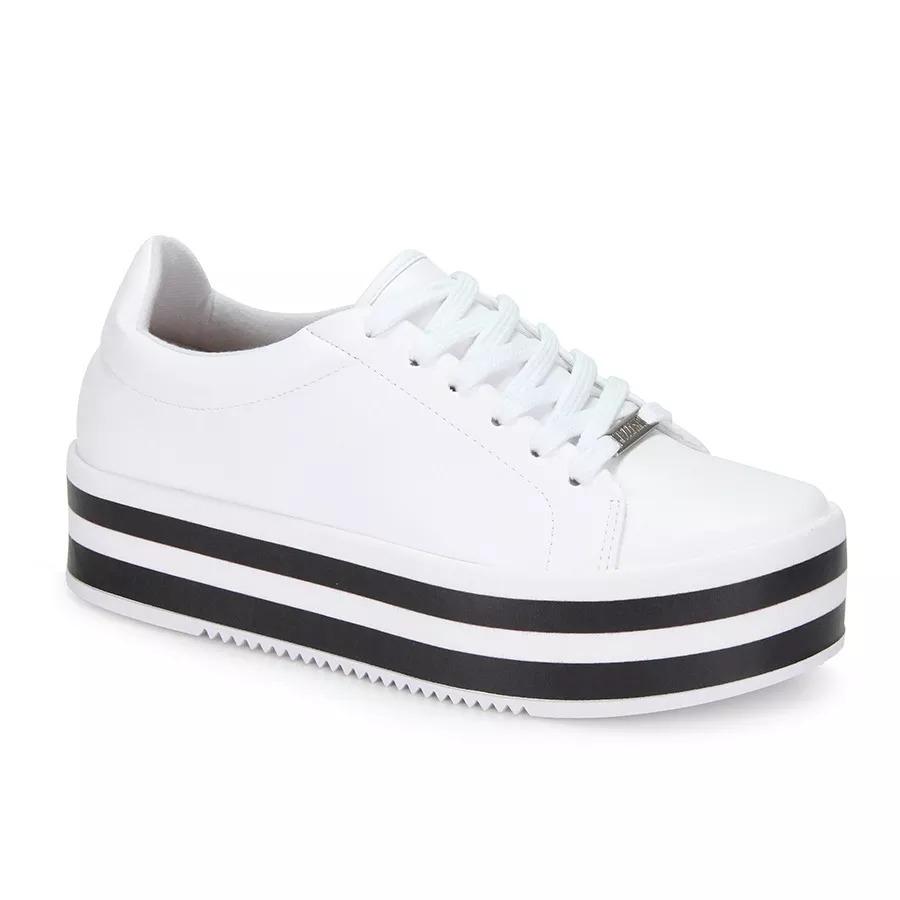 1711f9e3b35c0 tênis casual conforto vizzano flatform - branco 1298100. Carregando zoom.