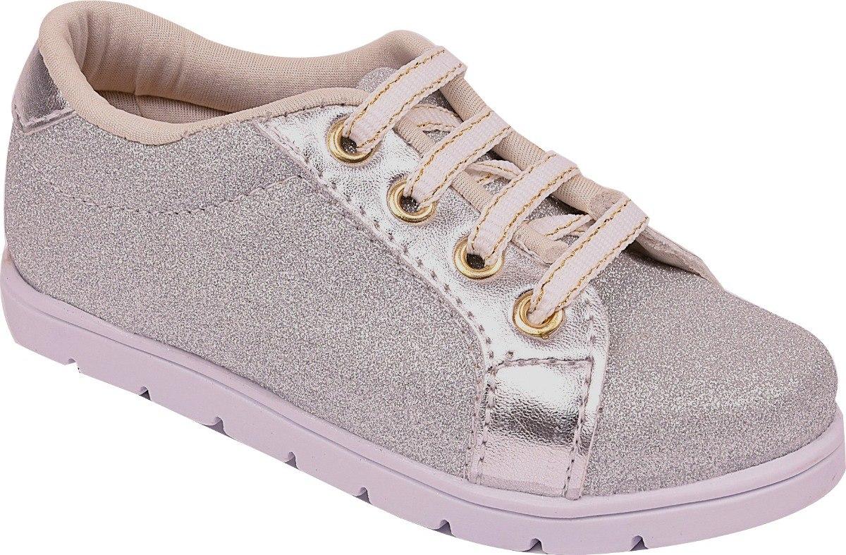 bc5bf736cc tênis casual feminino infantil gliter prata. Carregando zoom.
