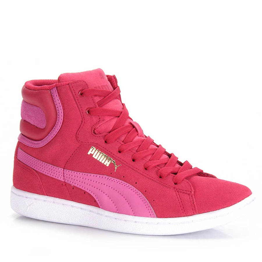 994ce4ae62 tênis casual feminino puma vikky mid - pink. Carregando zoom.