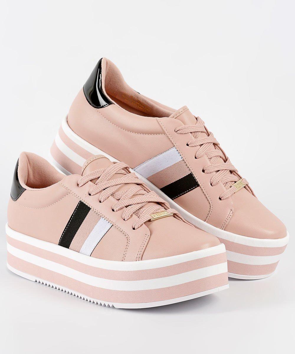 a07b106c309 tênis casual feminino vizzano flatform rosa pelica 1298102. Carregando zoom.