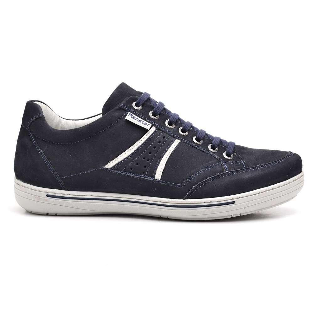 f78200b808 tênis casual masculino ranster em couro azul com cadarço. Carregando zoom.