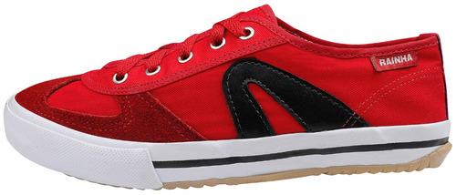 tênis casual vl 2500 - rainha volei vermelho com preto