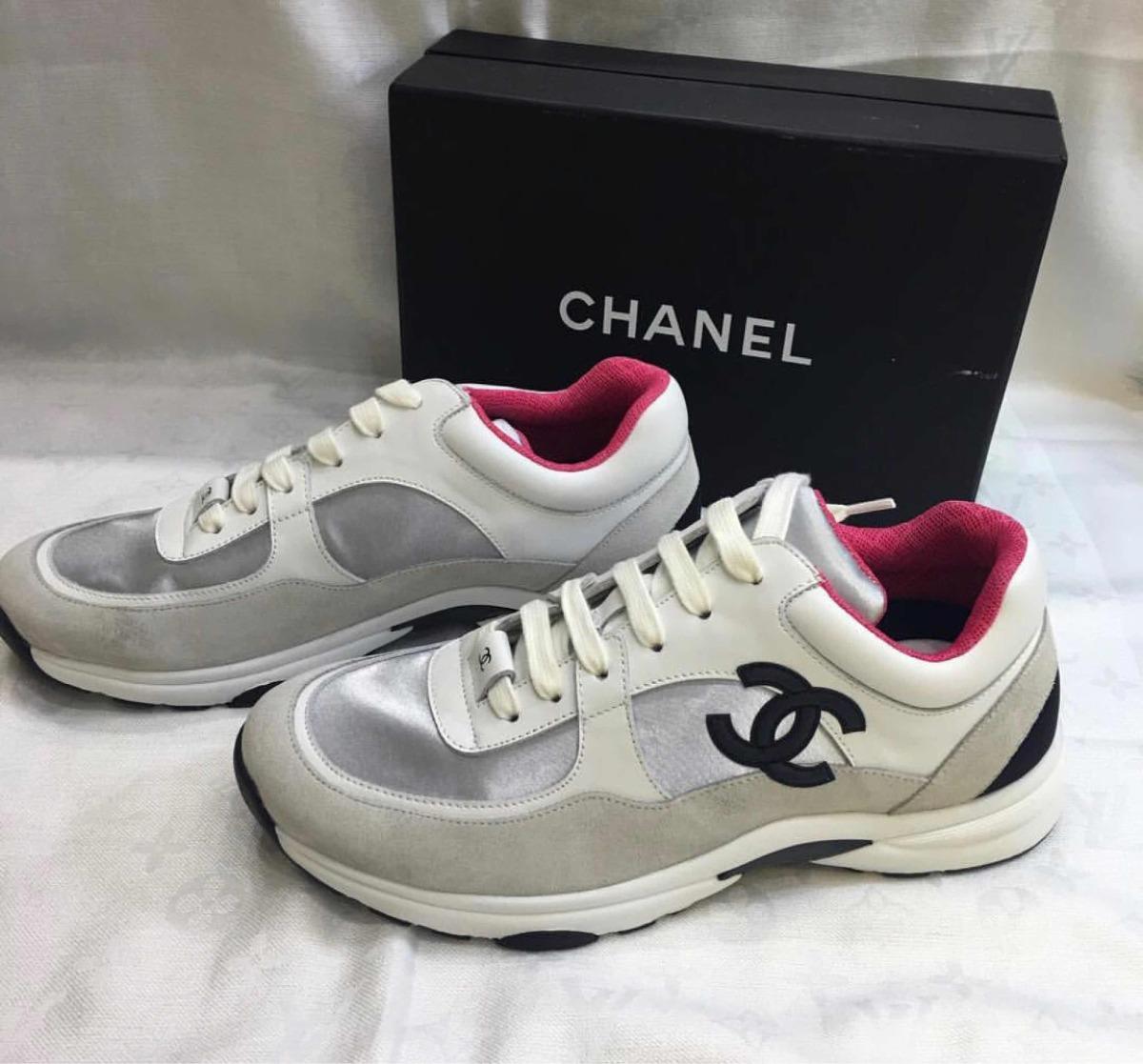 9eed57a8fa8 tênis chanel branco rosa. Carregando zoom.