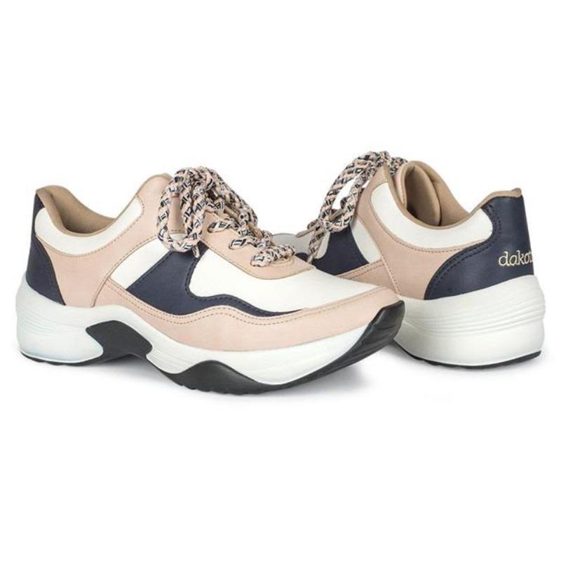 c8bdcae3e Tênis Chuncky Dakota Sneakers Cor Aveia E Branco - R$ 169,99 em ...