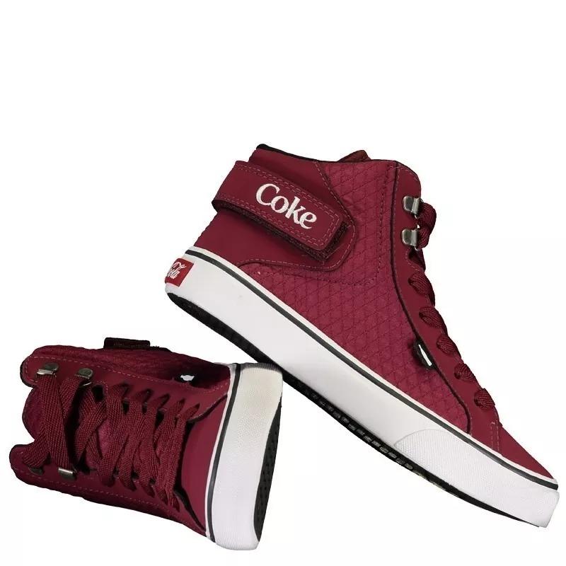0726497988b Tênis Coca Cola Feminino Preto Cano Alto Oferta - R  53