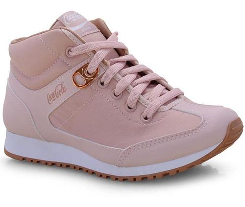 tênis coca-cola feminino rose/cobre  -  cc1494