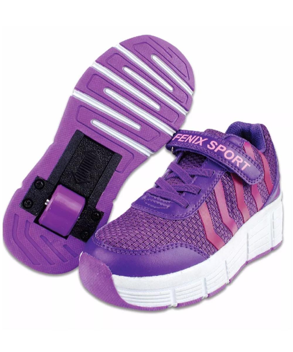 ad51808e248 tênis com rodinha menina tamanho 32 roxo - fenix. Carregando zoom.