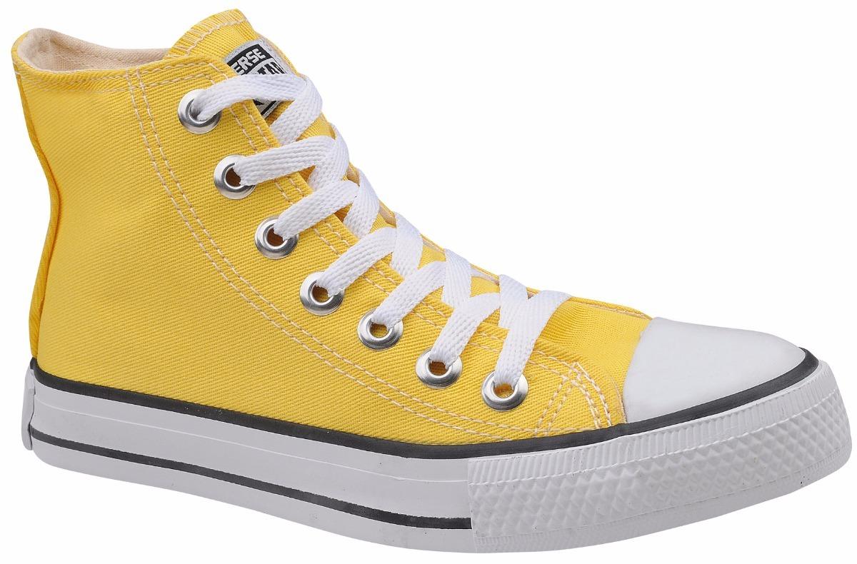 22da0b7c3 tênis converse all star chuck taylor cano alto amarelo. Carregando zoom.