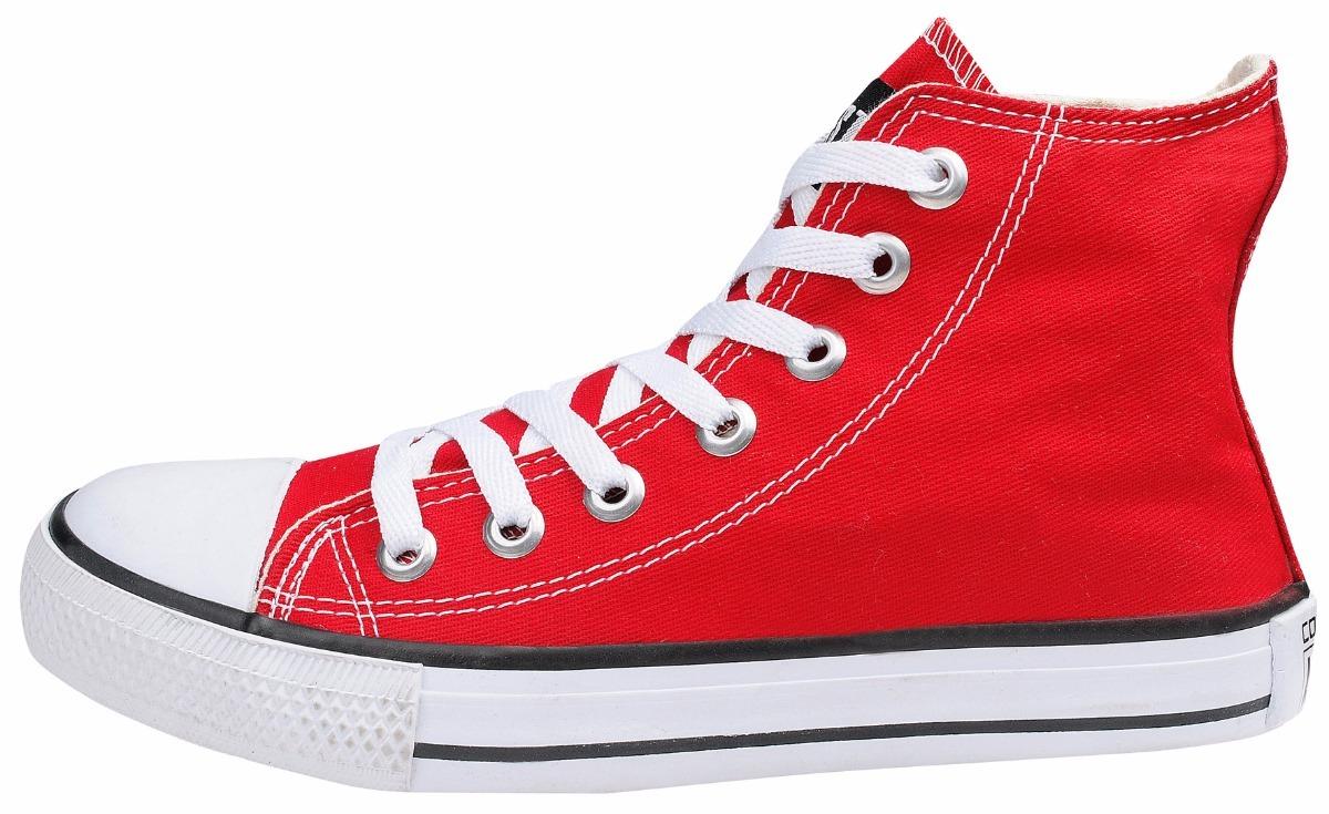 43d01946ea tênis converse all star chuck taylor cano alto bota vermelho. Carregando  zoom.