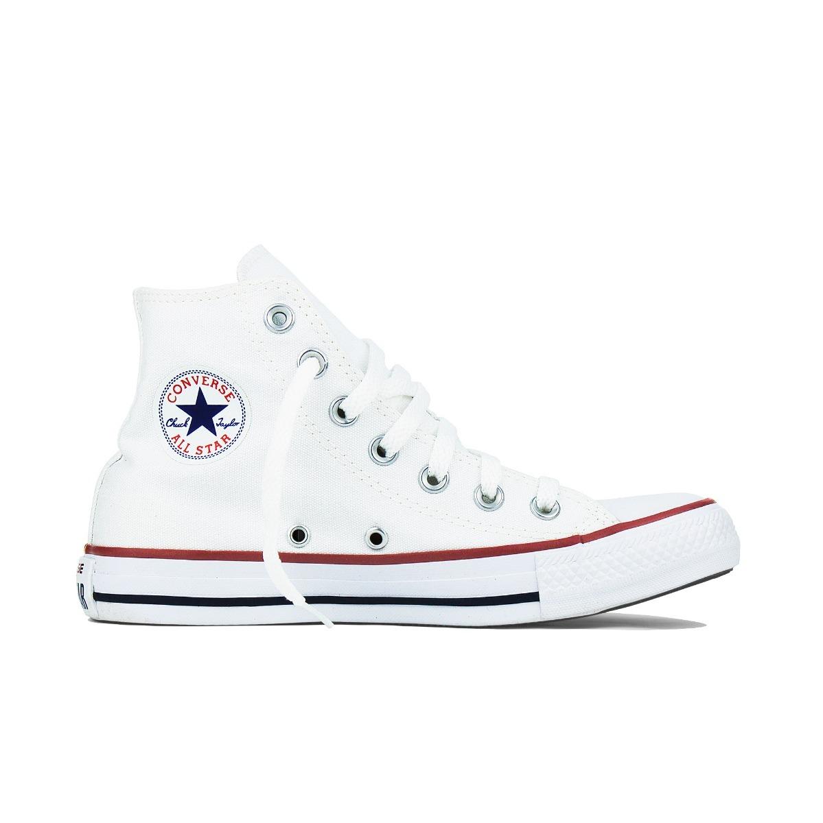 1822e42704 tênis converse all star chuck taylor cano alto branco tecido. Carregando  zoom.
