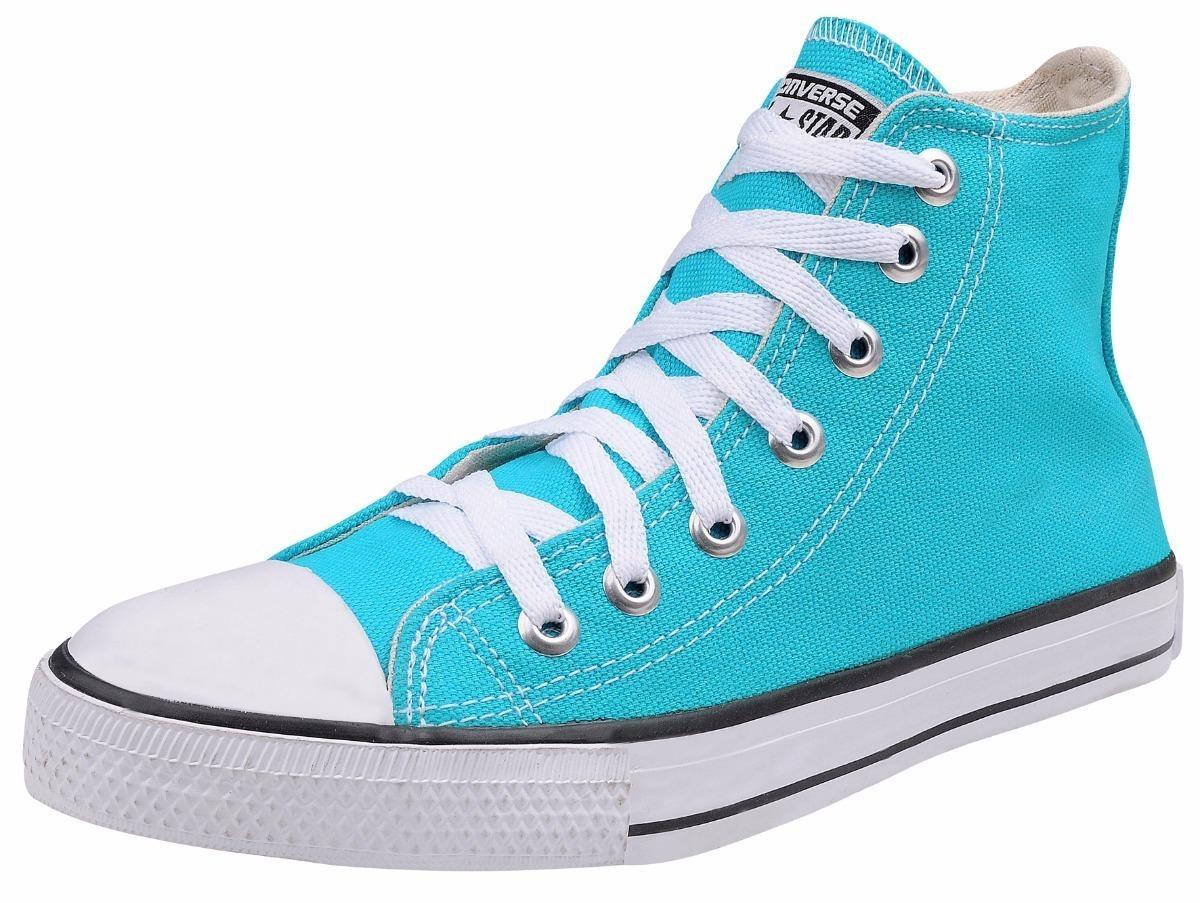 51e884ef8 tênis converse all star chuck taylor core hi azul turquesa. Carregando zoom.