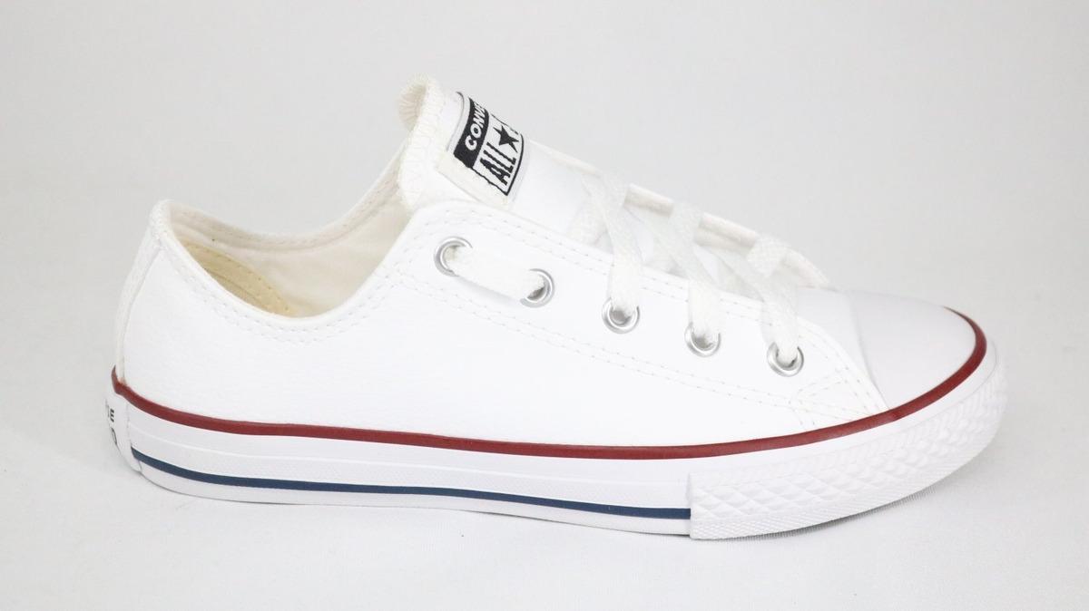 93ca302f7e Tênis Converse All Star Couro Branco - 38 - Branco - R$ 189,99 em ...