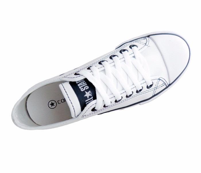 03833255a18 Tênis Converse All Star Couro Sintético Branco - R  99