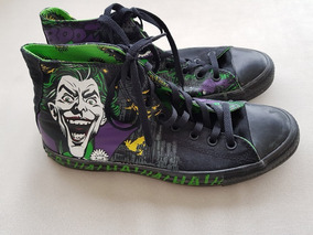 b8b8285e27e Tênis Converse All Star Joker Batman Dc Comic Raro Semi Novo