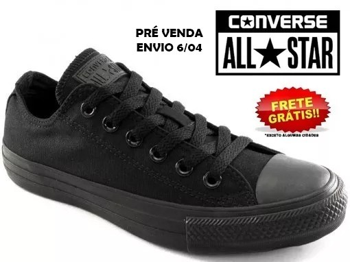 1fe08dd5a3e Tênis Converse All Star Monochrome Pre Venda Envio 6 04 - R  159