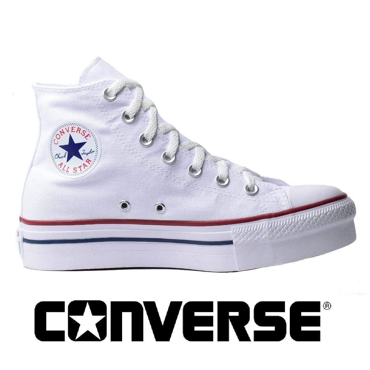 tênis converse all-star platform hi branco ct04940003. Carregando zoom. 63c49b1d4e7e6