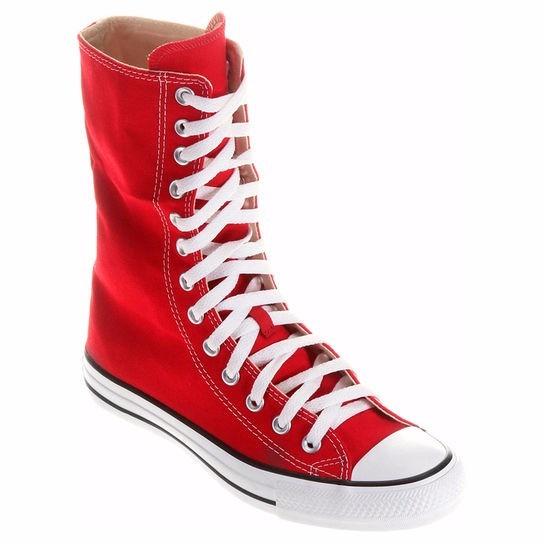 1d78719ddff Tênis Converse All Star Specilty Cano Alto Vermelho - Rock - R  180 ...