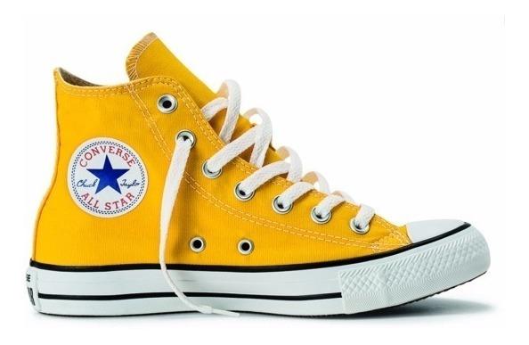 b67f73f954 Tênis Converse Core Hi All Star Chuck Taylor Bota Amarelo - R$ 129 ...