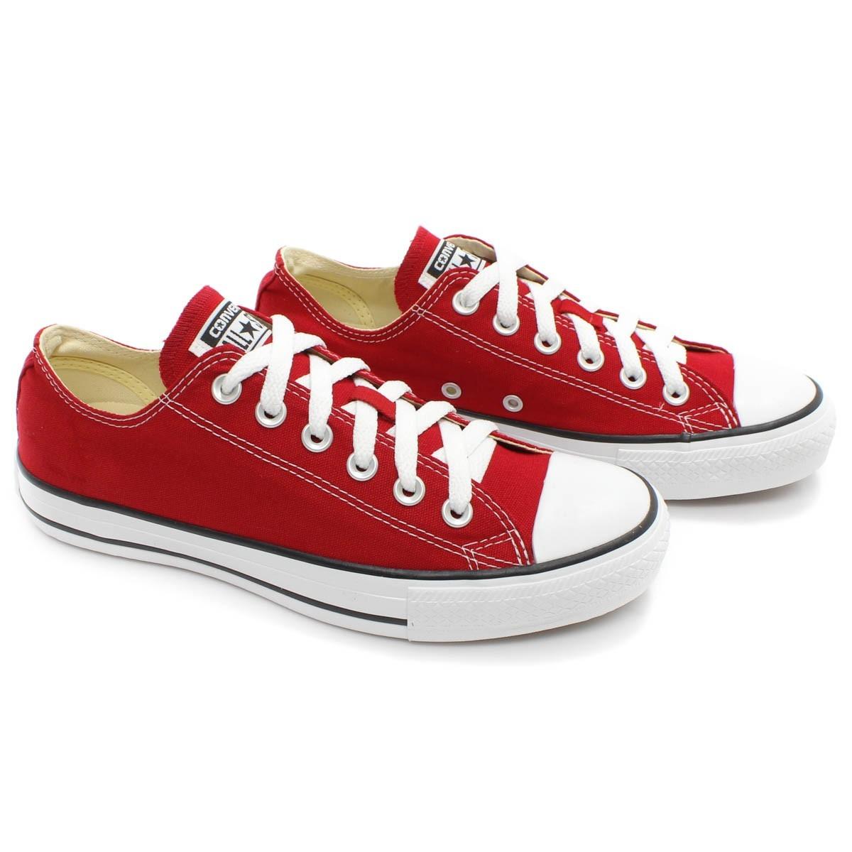 5796cdd1c7e Tênis Converse All Star Feminino Vermelho