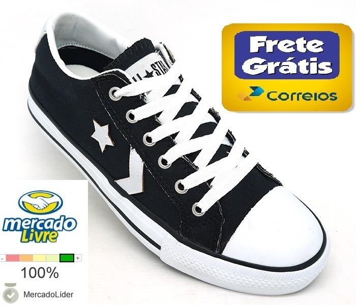 cad530b6c2 Tênis Converse Star Player Preto Original - R  169