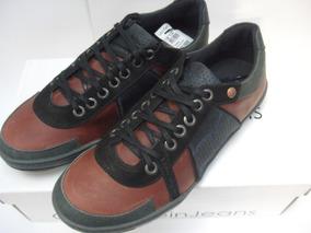 4cf1390b8d2 Tênis Couro Calvin Klein Queens N Y C Orig. Bordeaux + Black