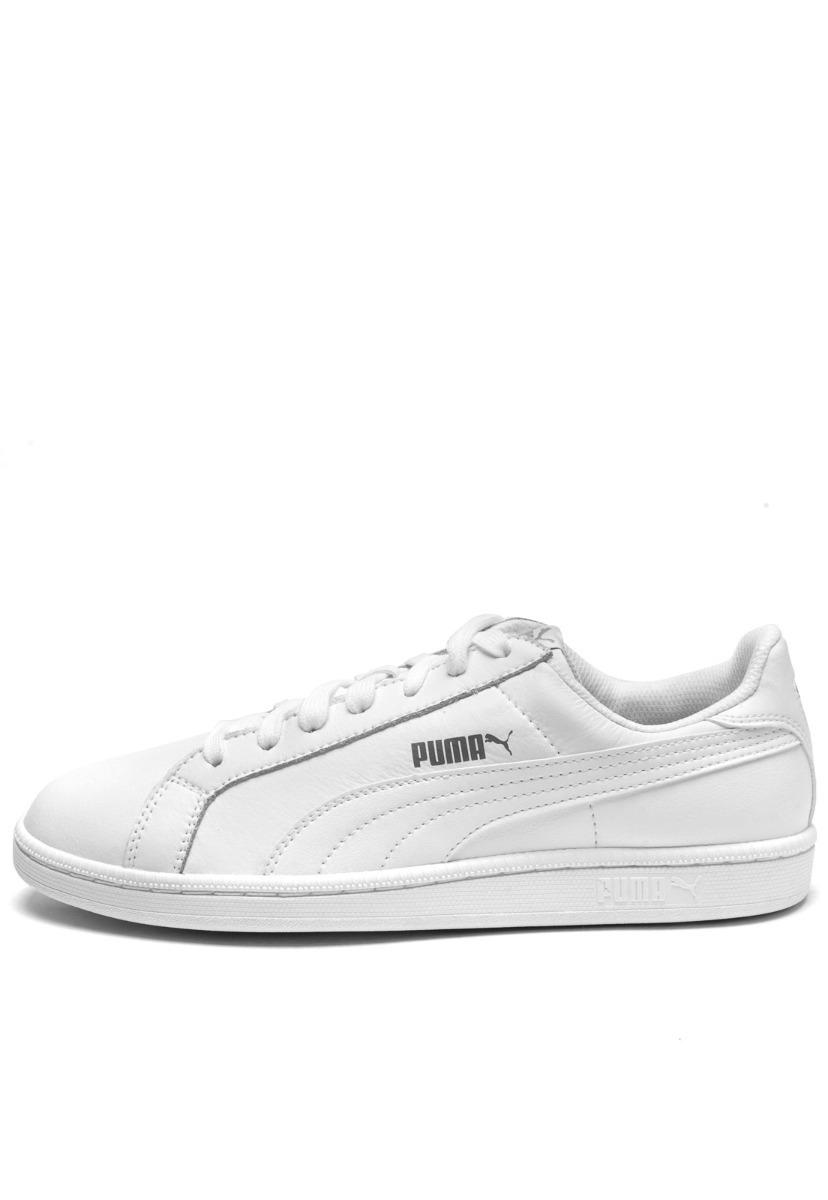ef384b077 Tênis Couro Puma Smash L Branco | Masculino - R$ 164,99 em Mercado Livre