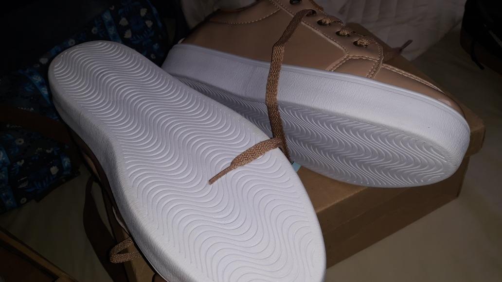d32ad4d3da28d tênis dafiti shoes cano baixo clean nude. 4 Fotos