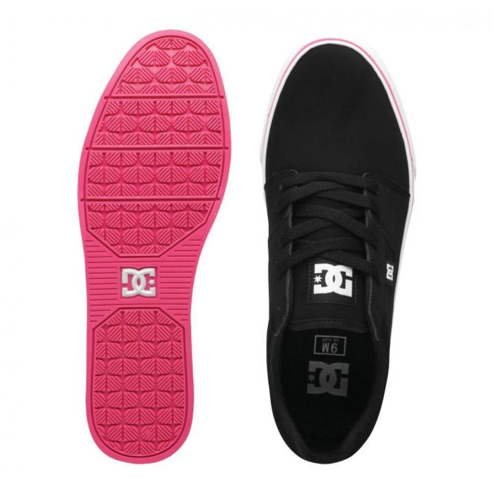 68c3ae33adfb6 tênis dc - bristol - preto detalhes pink e sola branca!!!! Carregando zoom.